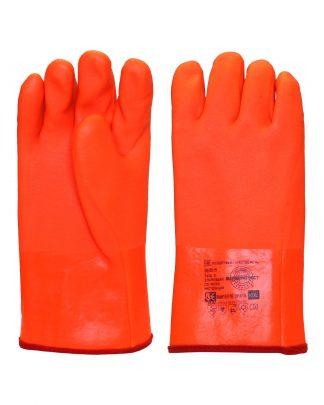 """Перчатки утепленные """"ВИНТЕРЛЕ Оранж"""" ПВХ,матовая поверхность, утепл. х/б тканью с начесом, в уп72пар"""