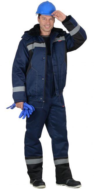 """Костюм """"СИРИУС-МАСТЕР-Д"""" : куртка кор.,п/комб. тёмно-синий с СОП"""