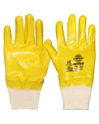 """Перчатки """"НИТРИЛ-ЛАЙТ-SР РП""""  желтые с полным обливом, р. 7(S),8(М),9(L),10(,ХL),11(XXL) в уп.120пар"""