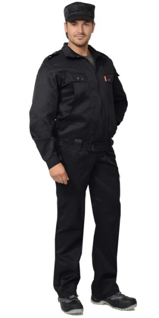 """Костюм """"СИРИУС-Безопасность"""" куртка, брюки (тк.смесовая) черный"""