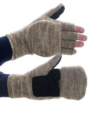 """Перчатки-Варежки """"Юкагиры"""" тинсулейт, откидная варежка, спилковая ладонь, в уп.120пар"""