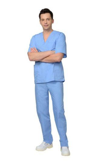 Костюм хирурга универсальный: блуза, брюки голубой (СТ)