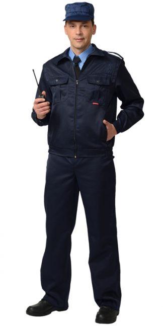 """Костюм """"СИРИУС-Альфа"""" куртка, брюки (тк.смесовая) черный"""