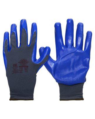 """Перчатки """"НейпНит"""" р. 7(S),8(M),9(L),10(XL),11(XXL) (нейлон+нитрил синий,13-й кл.вязки),в уп.240пар"""
