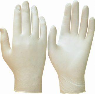 """Перчатки """"ТонЛат"""", только упак.50 пар (латекс, пудра, бесцв.,толщ.0,12мм,дл.245мм.) р.S,M,L"""