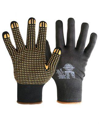 """Перчатки """"НейпДот-Ч"""" (нейлон, ПВХ-точка, цвет черный), в уп.300пар"""