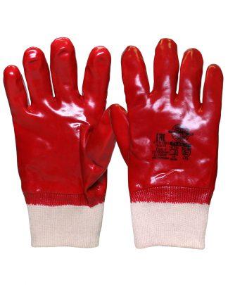 """Перчатки """"РЕДКОЛ"""" (основа джерси-100% хлопок, ПВХ покрытие красного цвета),р.  L,XL, в уп.120пар"""