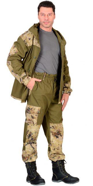 """Костюм """"СИРИУС-Горка"""" куртка, брюки (п-но палаточн.+отделка тк.Кроун) КМФ Саванна"""