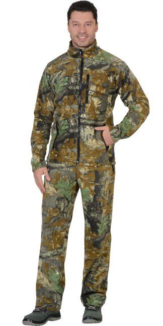 """Костюм флисовый """"ИРБИС"""": куртка, брюки """"Темный лес"""""""
