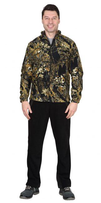 Куртка флисовая 260г/кв.м КМФ Темный лес