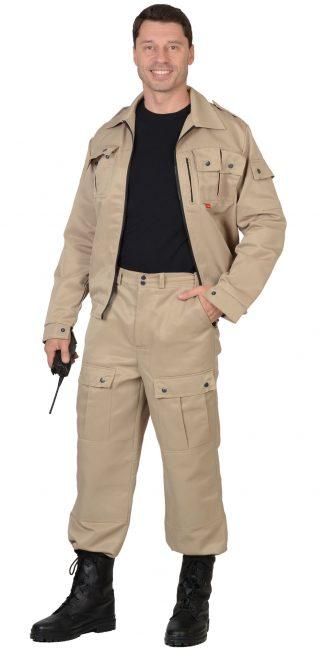 "Костюм ""СИРИУС-Фрегат"" куртка, брюки (тк. Грета 210) песочный"