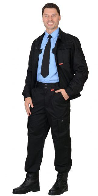 """Костюм """"СИРИУС-ТАЙФУН"""" : куртка, брюки Тк. Rodos (245 гр/кв.м) черный"""