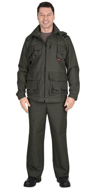 "Костюм ""СИРИУС-Мичиган-2"" куртка, брюки (тк. Canvas) темный хаки"