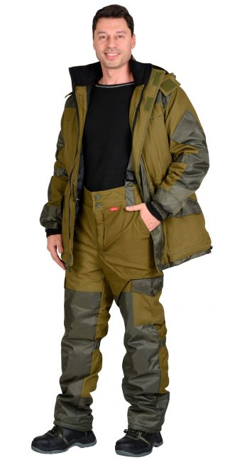 "Костюм ""СИРИУС-ГОРКА"" зимний: куртка дл., брюки (тк.палатка) хаки"