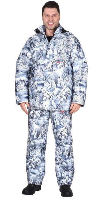 """Костюм """"СИРИУС-Тайга"""" зимний: куртка, брюки. (тк.Алова) КМФ Белый лес"""