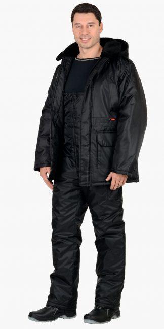 "Костюм ""СИРИУС-Безопасность"" зимний: куртка дл., п/комб. чёрный"