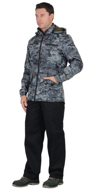 "Куртка ""СИРИУС-Вектор"" удл.(тк.Дюспо+флис) серый Милитари"