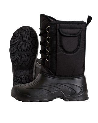 Дутики ЭВА мужские (Д-014 ч) на шнуровке с чулком (-40С), цв. черный