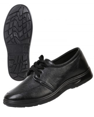 Туфли мужские на шнуровке черные иск. кожа