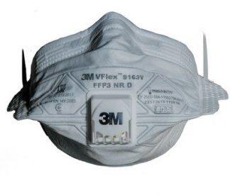 Респиратор 3М VFlex 9163 V с клап. выдоха, FFP3 NR D (50ПДК) в уп.15 шт. (продавать уп. по 15 шт.)