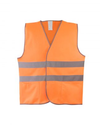 Жилет сигнальный 1Т оранжевый (трикотаж 100% п/э) 2 СОП с карманами