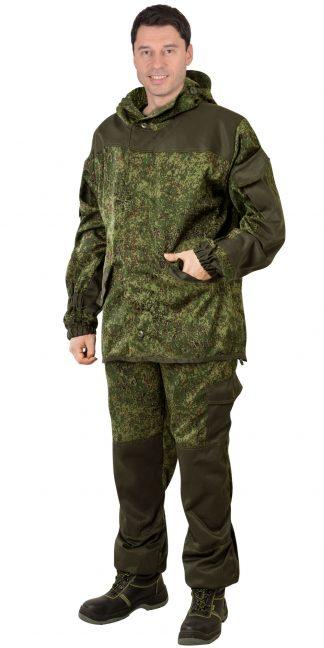 """Костюм """"Горка"""" куртка, брюки  КМФ Цифра зеленая с отделкой  Хаки"""