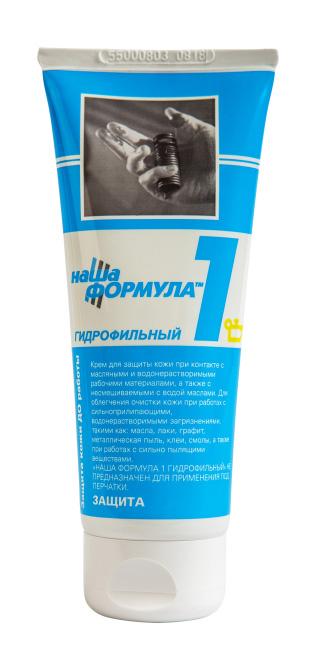 """Крем гидрофильный """"Наша Формула 1"""" туба 100 мл.(цена за шт.,в упаковке 50ш.)"""