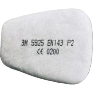 Предфильтр 3М 5925, герметично упак.по 2 шт, цена за 1 шт., продавать кратно 2 шт.