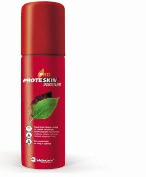 """Аэрозоль """"Протескин ИнсектЛайн"""" защитный  от укусов летающих кровососущих насекомых 100мл."""