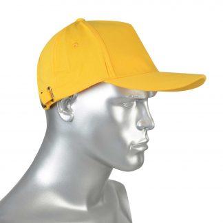 """Кепка -""""бейсболка"""" желтая (пакет по 50 шт.,в упаковке 200 шт.)"""