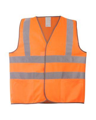 Жилет сигнальный 8АТ оранжевый (трикотаж 100% п/э) 4 СОП с карманами