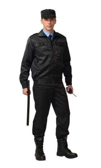 """Костюм """"СИРИУС-Вымпел"""" куртка, брюки (тк.смесовая) черный"""