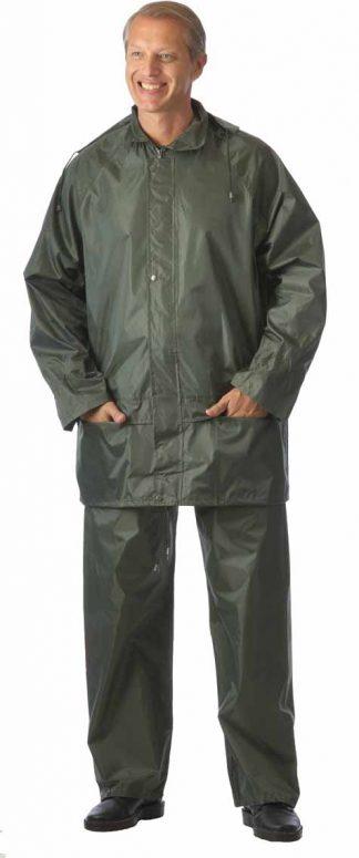 Костюм  нейлоновый: куртка,  брюки зелёный